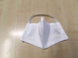 Textil szájmaszk (mosható, fehér)