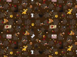 Anita gyermek Paplanhuzat (90x140, pamut-poliészter,  barna kutyás)